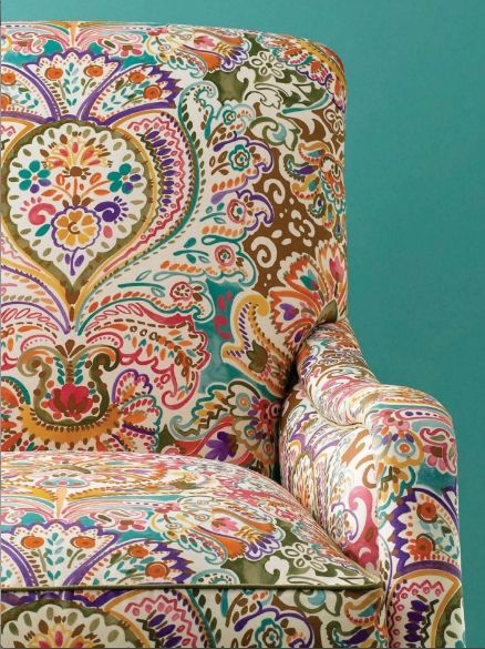 amazing pattern upholstered armchair