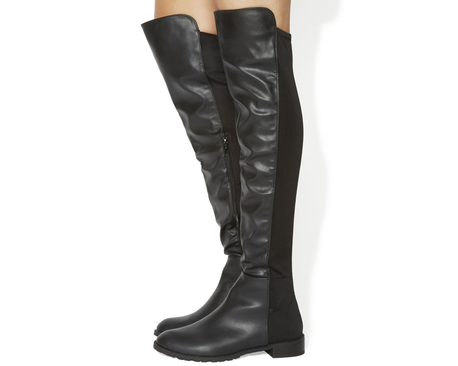Black OFFICE Kiwi over the knee boots