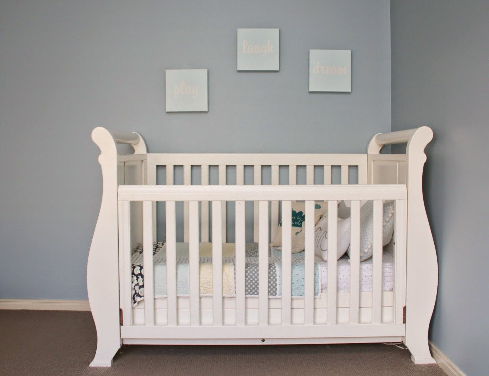 Super Nanny 4 in 1 Classic Sleigh Cot Bed - White | baby | Pinterest