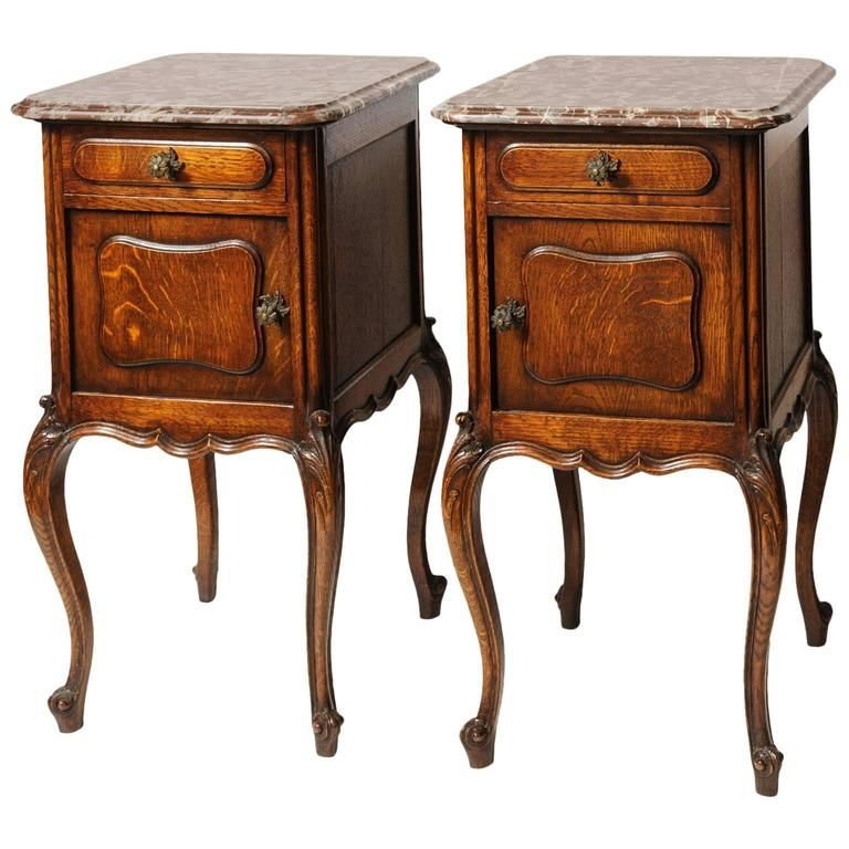 Pair Of 19th Century French Marble Top Nightstands Marble Top French Style Furniture Vintage Room