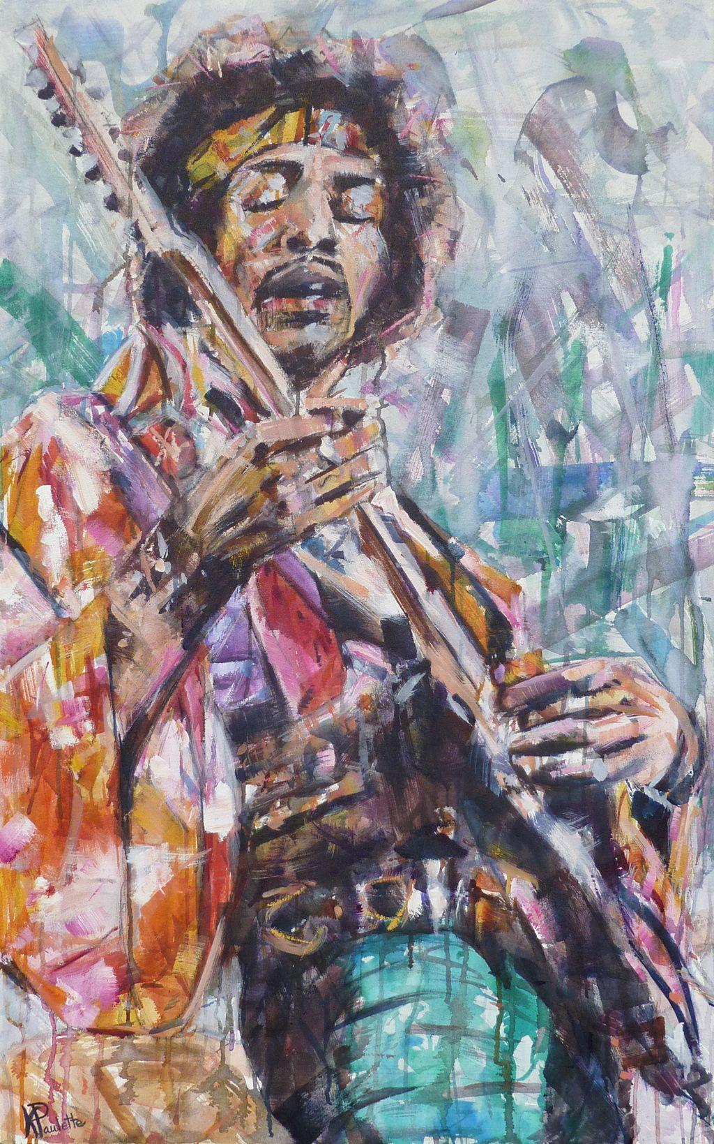 I painted jimi hendrix friday night bristol day rhythm