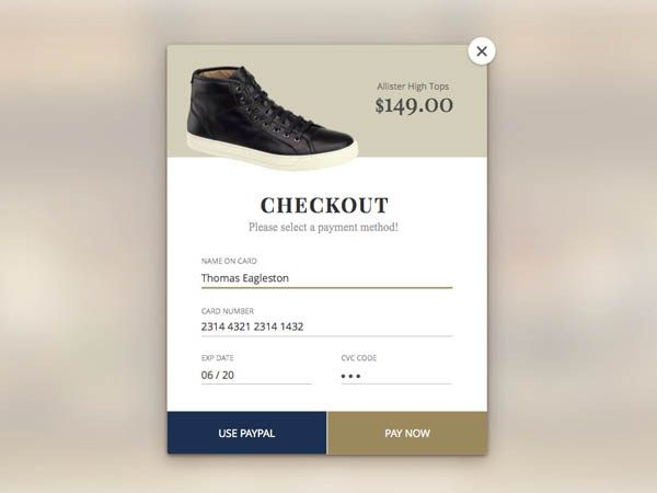 25 Example of Checkout Widget UI for Inspiration -   - credit card form