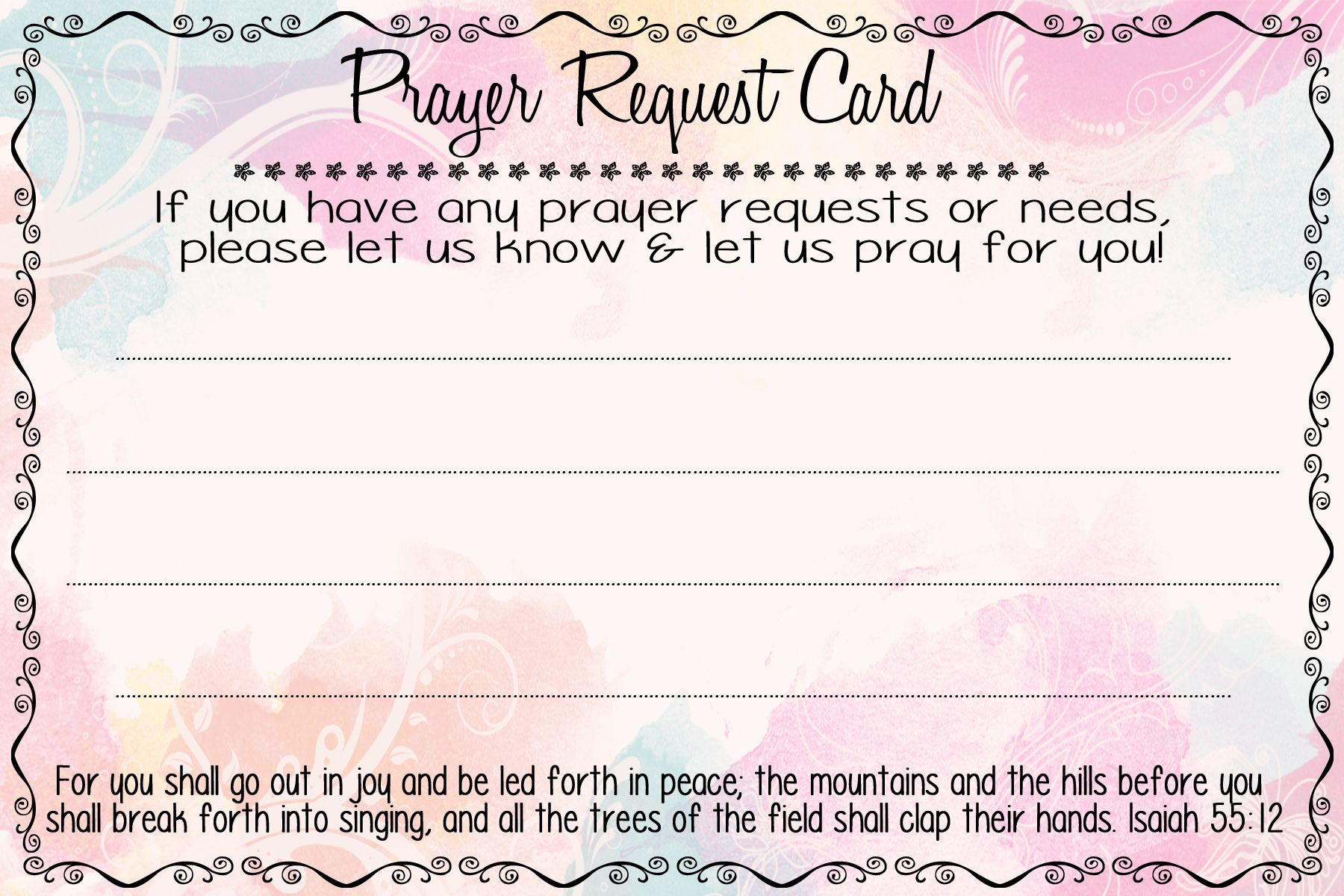 Prayer Request Cards | A fierce flourishing | Prayer