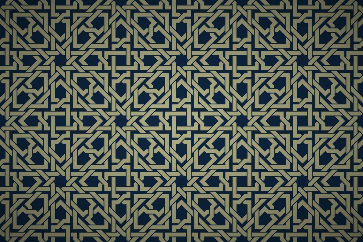 Free Islamic Geometric Interwoven Wallpaper Patterns