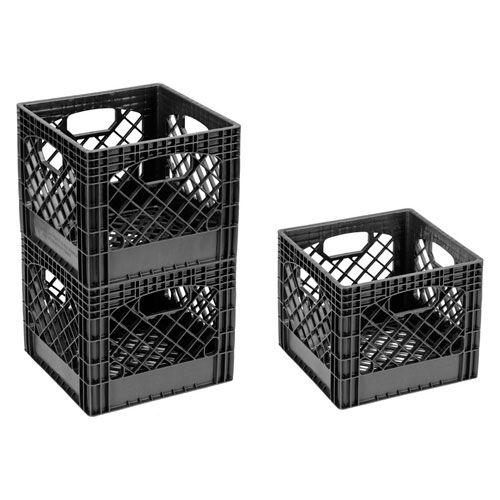 Attrayant Buddeez Milk Crate Storage Bin   Black Image Organize It $6.99