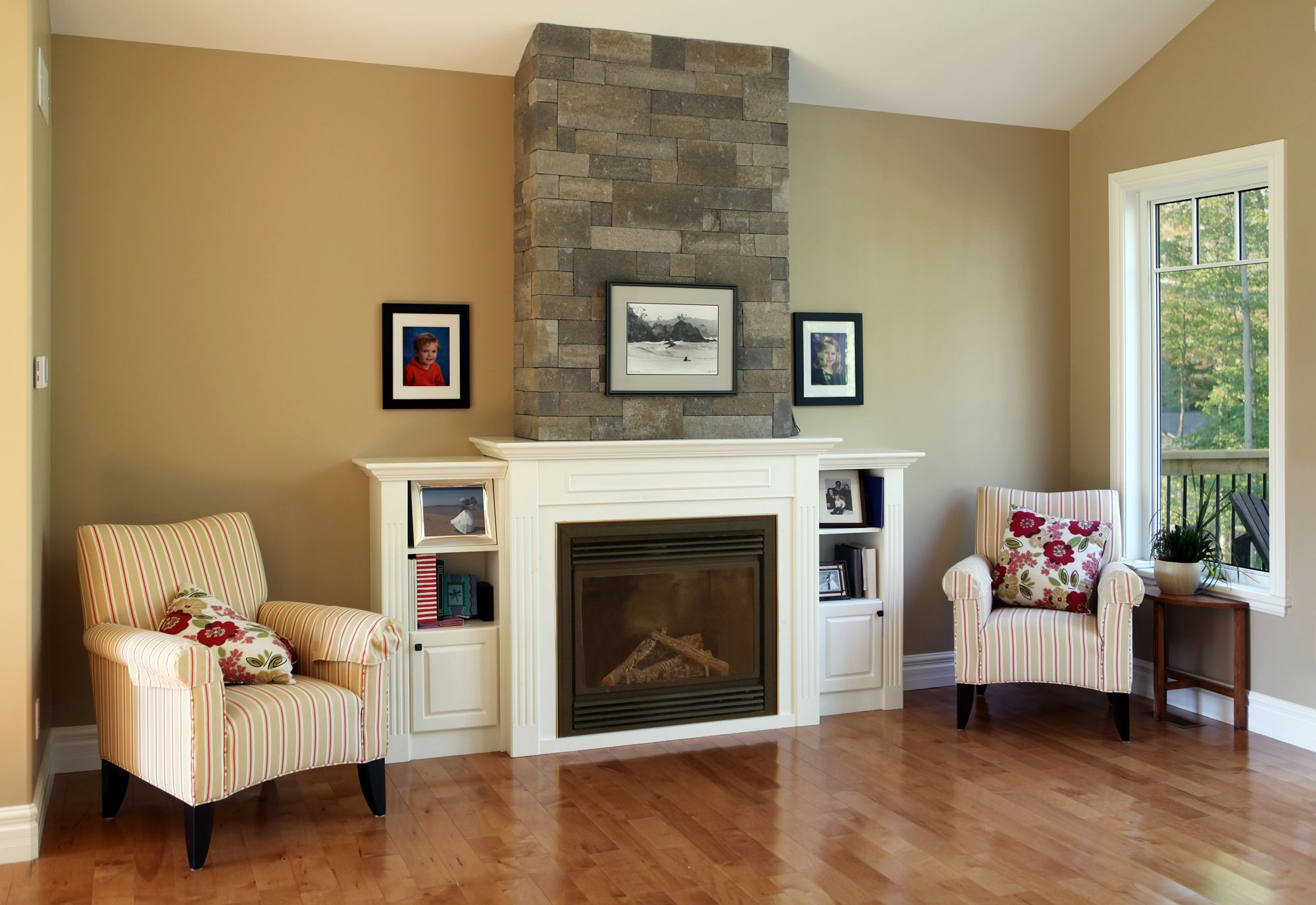 Fusion Dry-Stack Fireplace in Charcoal | Stone Fireplaces ...