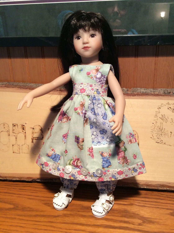 "Beatrix Potter, bunny pocket,  14"" doll clothes, Tonner,  Betsy McCall, Maru, ooak by judysdollboutique on Etsy"