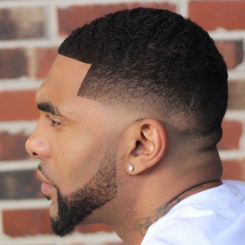Superb Black Men Haircuts   Low Skin Fade With Buzz Cut And Shape Up
