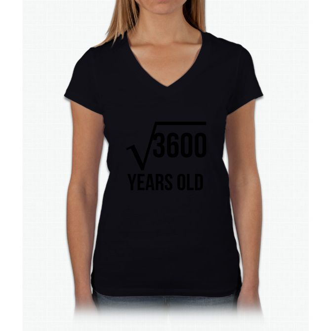 60 Years Old Square Root Womens V-Neck T-Shirt