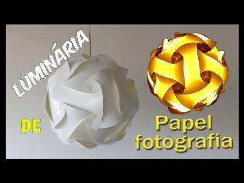 Como fazer uma luminária de papel de fotografia passo a passo
