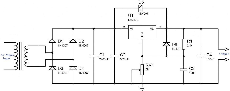 Skema Rangkaian Power Supply Variable Lm317 Teknologi Desain