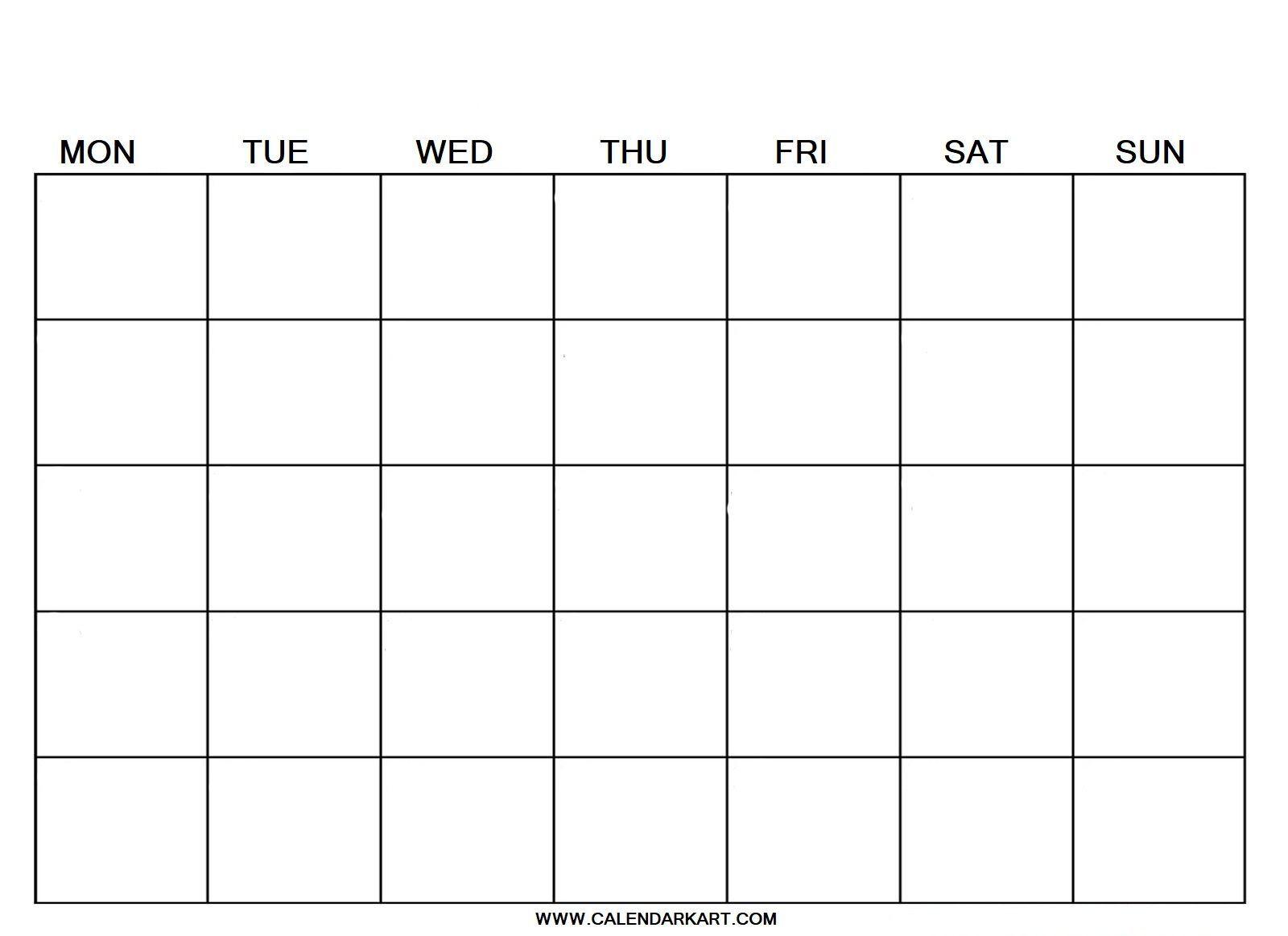 Fill-In Calendar Template from i.pinimg.com
