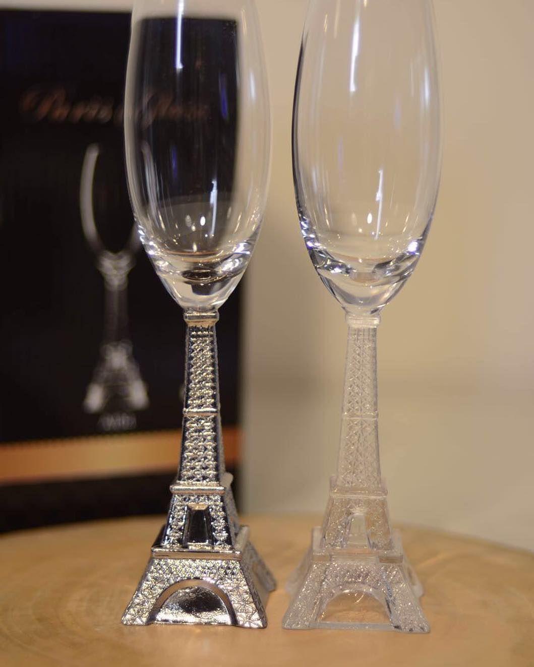 Eiffel Tower Glass الكرتون 4 كاسات 60 ريال Glassware Champagne Flute Tableware