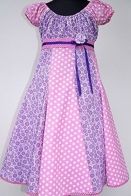 Kleid 128 lila pink