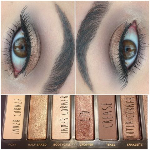 eye look using Urban Decay's Naked 2 palette:)