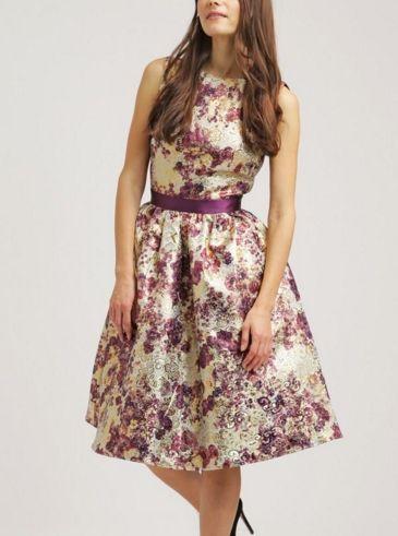 Chi Chi London Aurora Sukienka Midi Rozkloszowana W Kwiaty Multicolor Fashyou Pl Dresses Chi Chi London Summer Dresses