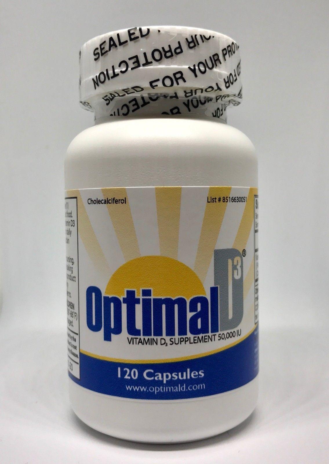 Optimal D3 Vitamin D3 50000 Iu 120 Capsules Exp 11 2020 Free Shipping Vitamins Vitamin D3 Health And Beauty