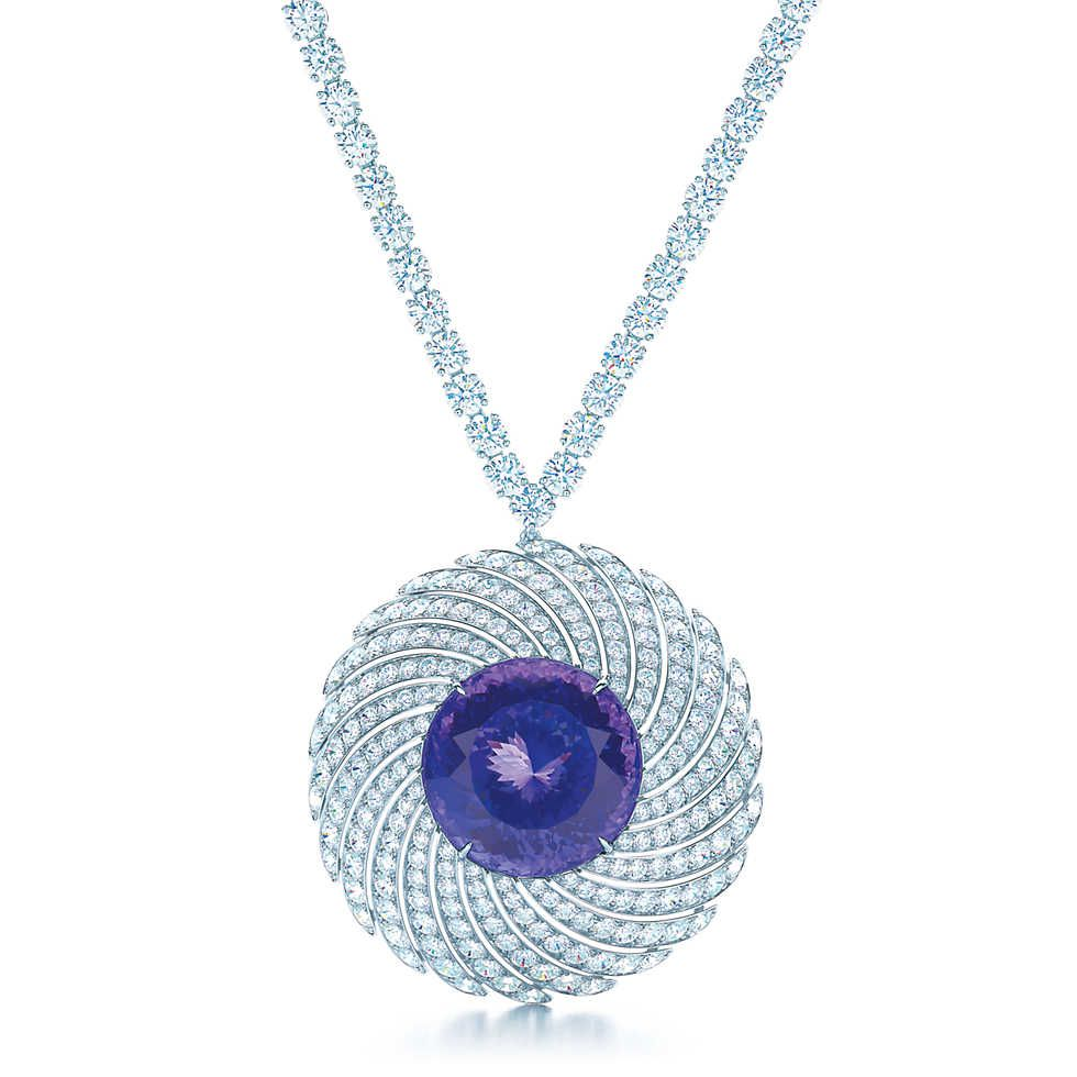 and beautiful co necklace i pendant platinum tanzanite diamond tiffany soleste