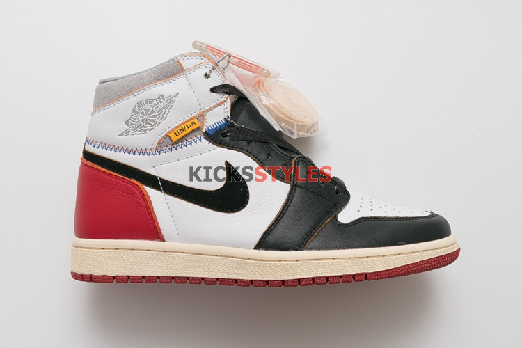 35636109dac4 Union x Air Jordan 1  White   Varsity Red   Black