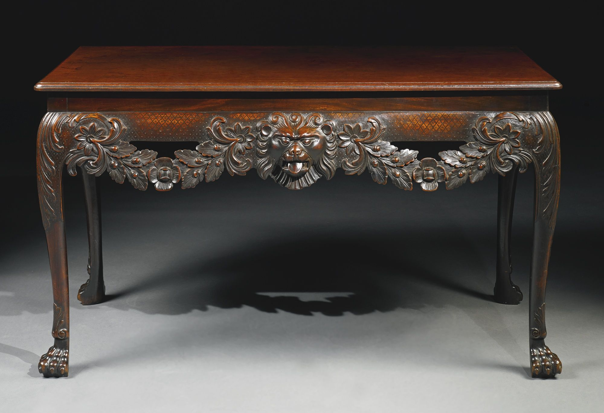 Mid century wheat sheaf coffee table irish antique dealers - An Important Irish George Ii Mahogany Side Table Circa 1755 Rectangular Figured Top With