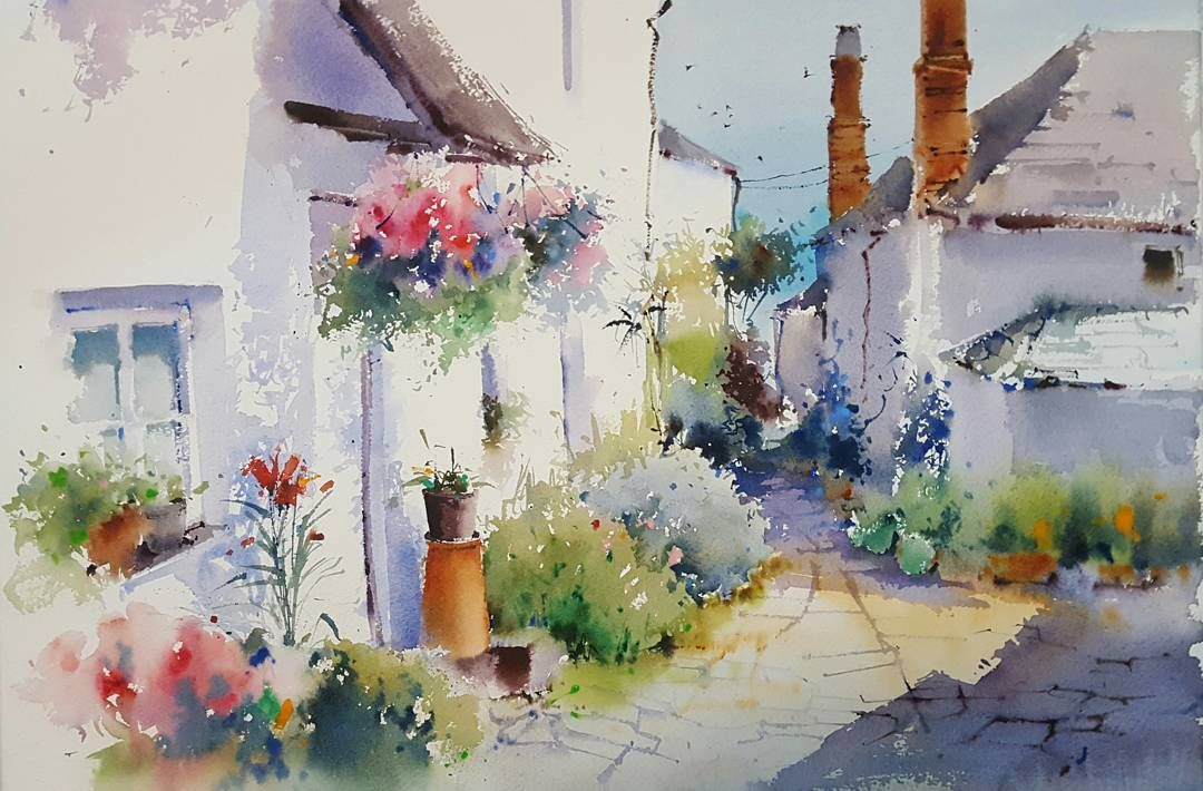 Pin By Ruth O Hara On Watercolor Landscapes Watercolor Art Painting