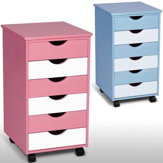 infantastic® Rollcontainer in blau und rosa von Jago24.de | Chest of drawers on wheels in blue and rose, buy at Jago24.co.uk