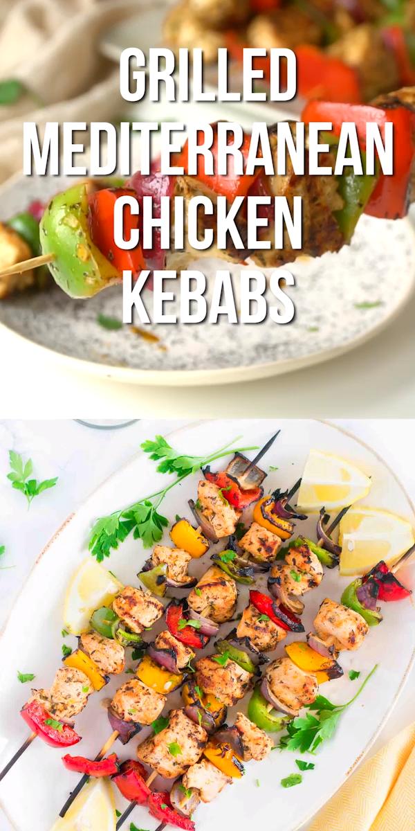 Grilled Mediterranean Chicken Kebabs