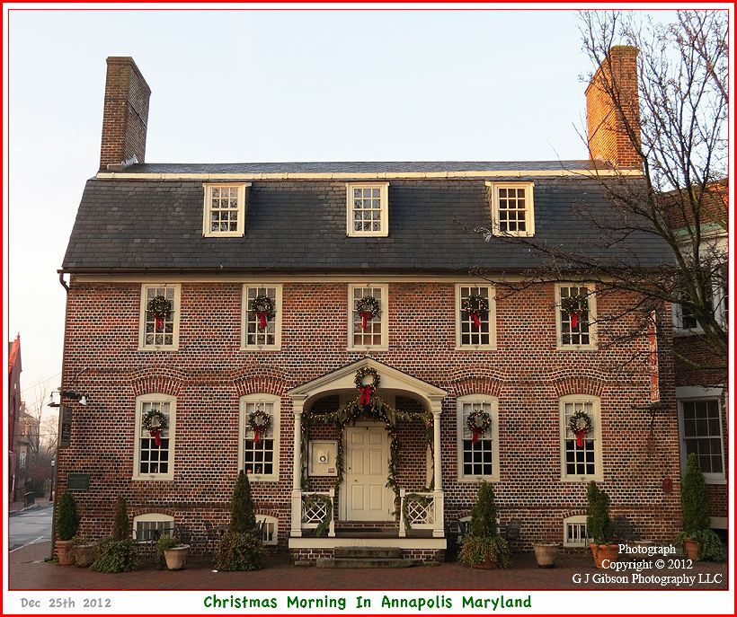 Picture Of Reynolds Tavern On Church Circle In Annapolis Maryland Early Christmas Morning December 25th 2012