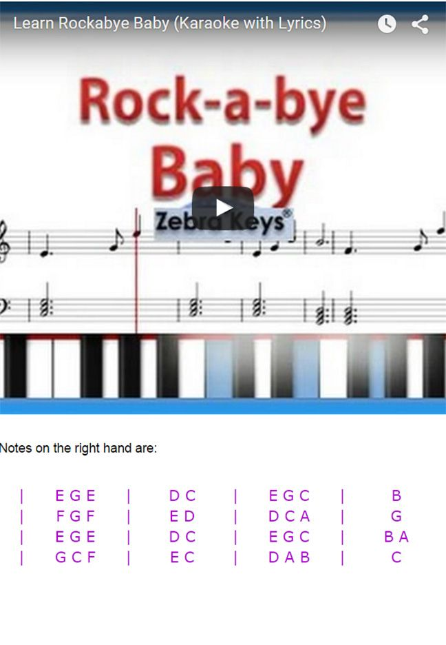 Learn To Play Nursery Rhymes On Piano Free Tutorials Http Www