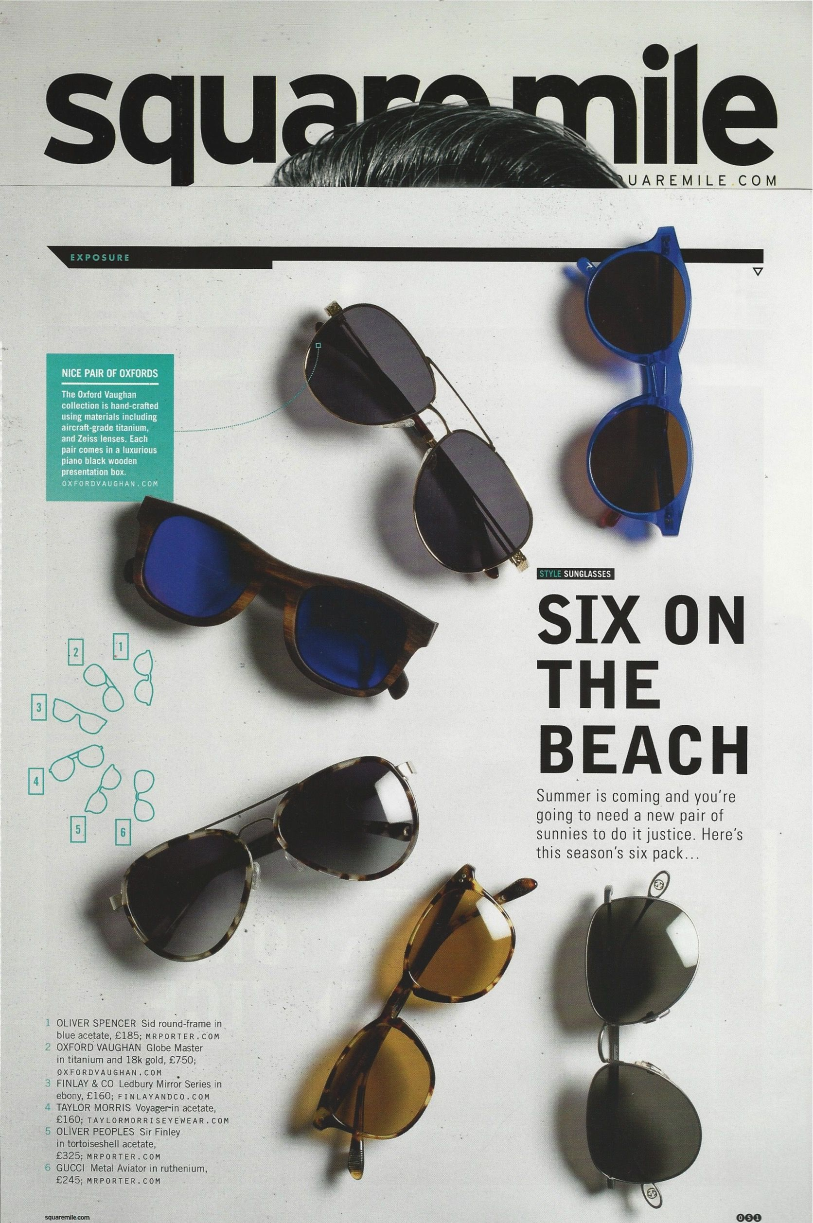 e16d22fdd8d3 Square Mile Magazine choose the Voyager Tortoiseshell in Acetate sunglasses  by Taylor Morris for summer.