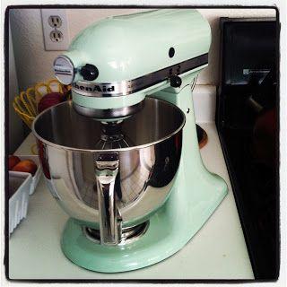 Pistachio Kitchenaid Mixer. I Got This For Christmas. :)