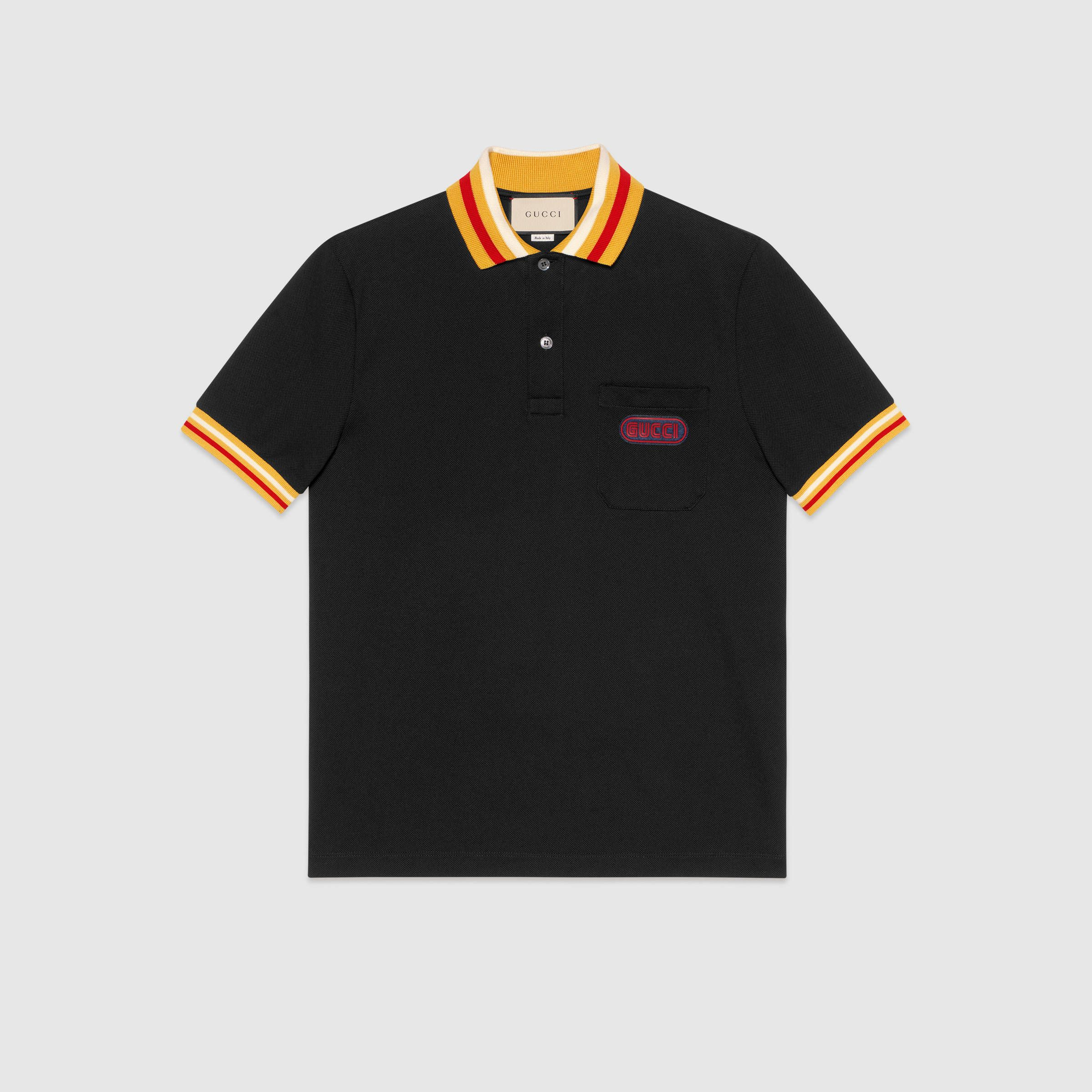 36f6cbb6f119 Polo with Gucci patch - Gucci Men's T-shirts & Polos 527727X9X761082