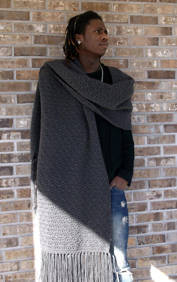 Les Lenny Scarf main Crochet texturé élégant hiver par NYStyle