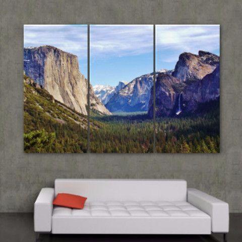 Yosemite National Park Canvas Wall Art California Wall Art Large Canvas Wall Art Photo Wall Art