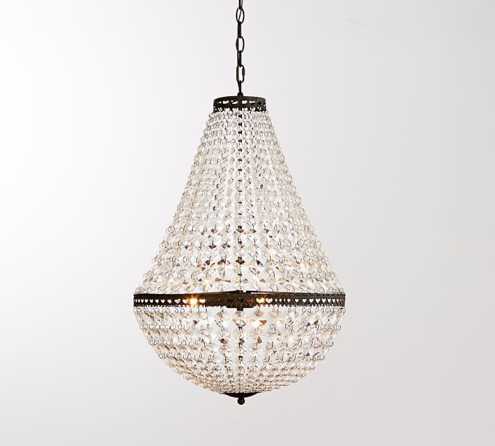 Mia Faceted Crystal Chandelier Get Lit Faceted Crystal