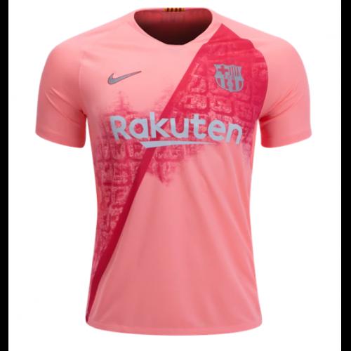 18 19 Barcelona  third Away Pink Soccer Jersey Kit(Shirt+Short ... 1e222c128