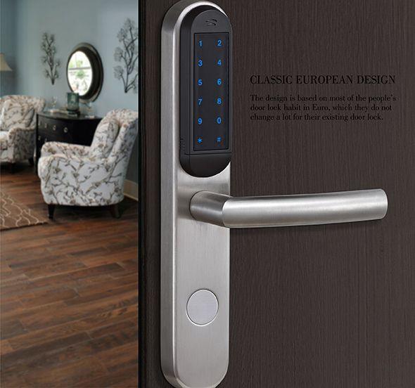 Avent Security D200 Digital Touch Screen Door Lock With Password Digital Door Lock Door Locks Digital Lock