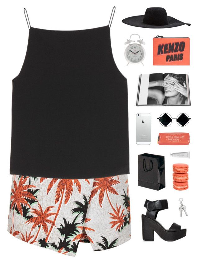 """""""obscure"""" by hhuricane ❤ liked on Polyvore featuring Topshop, T By Alexander Wang, Kenzo, Lanvin, J.Crew, Rizzoli Publishing, Byredo, kenzo, AlexanderWang and topshop"""