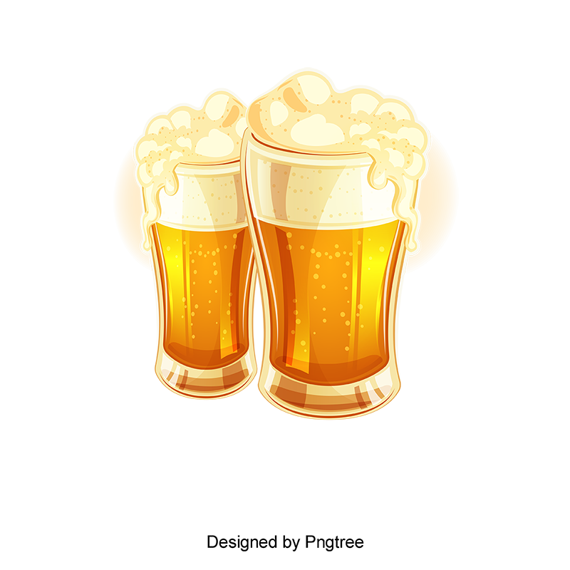 Vector Hand Painted Beer, Vector, Hand Painted, Beer PNG