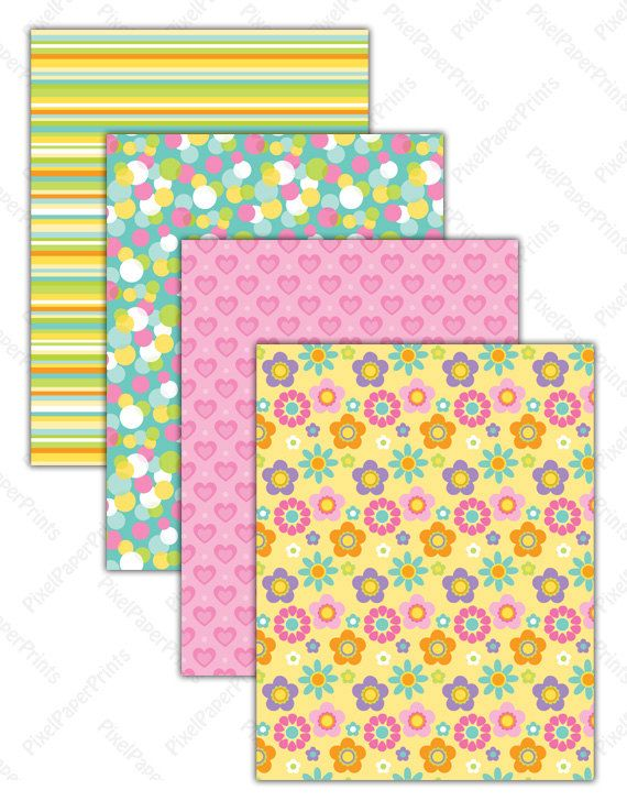 Spring Dress Digital paper set