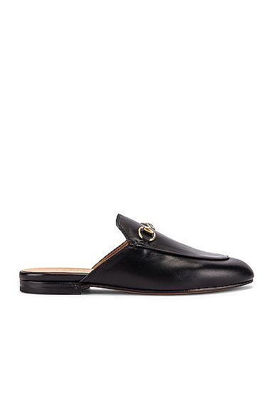 GUCCI GUCCI PRINCETOWN SLIDES IN BLACK