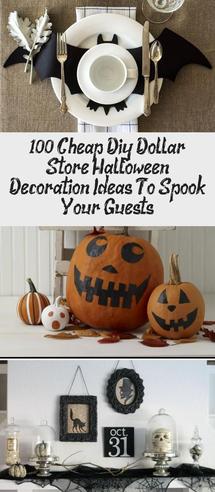 100+ Cheap Diy Dollar Store Halloween Decoration Ideas To Spook Your Guests #milliondollardip 100+ Cheap DIY Dollar Store Halloween Decoration ideas to spook your guests - Hike n Dip #halloweendecorationsDorm #Creativehalloweendecorations #halloweendecorationsManualidades #halloweendecorationsMaison #halloweendecorationsKitchen #cheapdiyhalloweendecorations