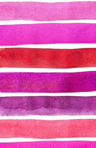 Beach Ball Stripes Pink Sunset by Vivian Ducas