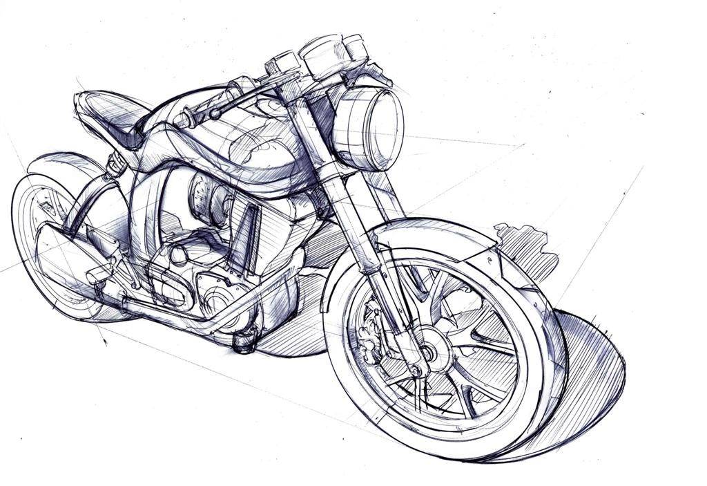 Cars How To Draw A Motorcycle For Kids Motorcycle Drawing