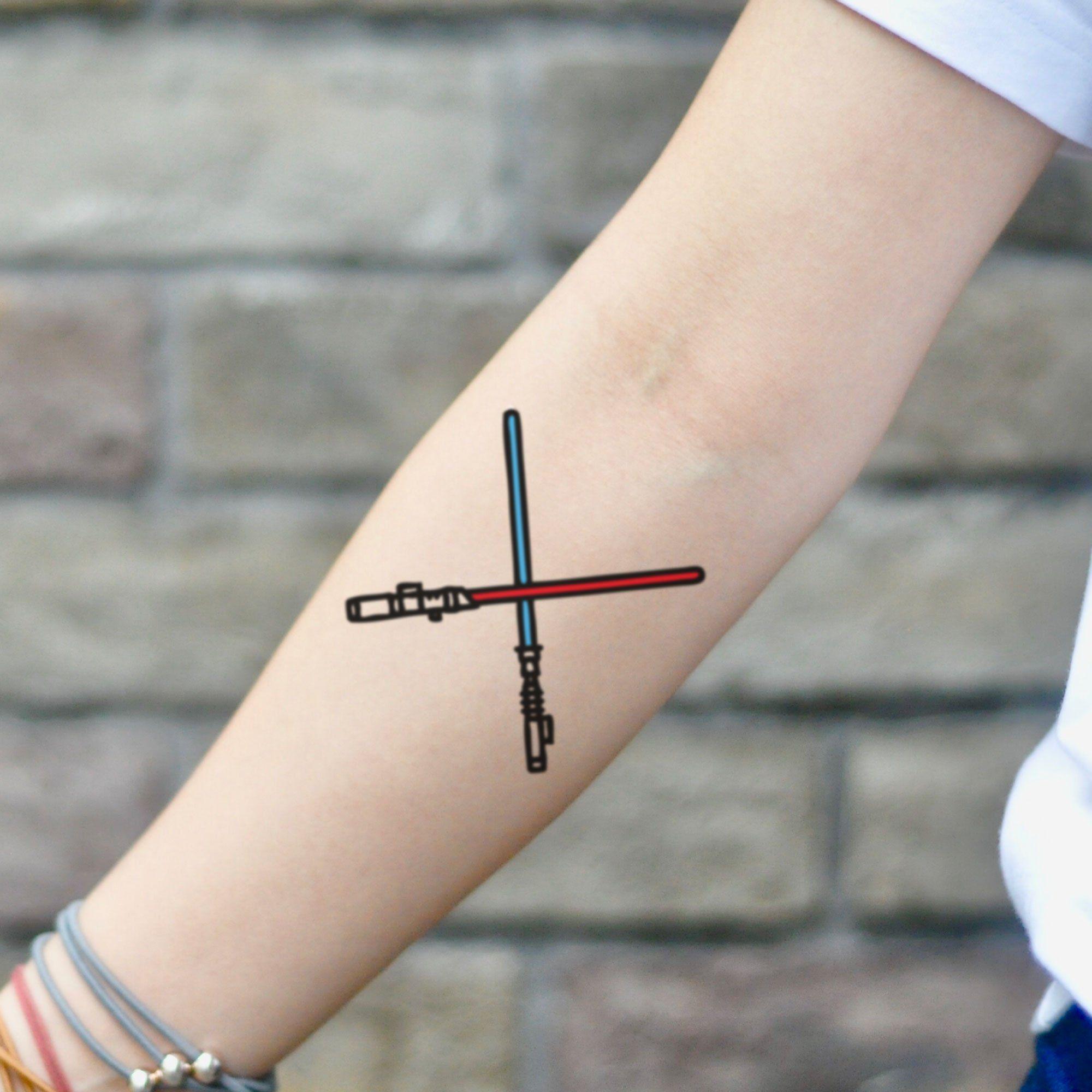 Star Wars Lightsaber Temporary Tattoo Sticker Set Of 2 Dovme