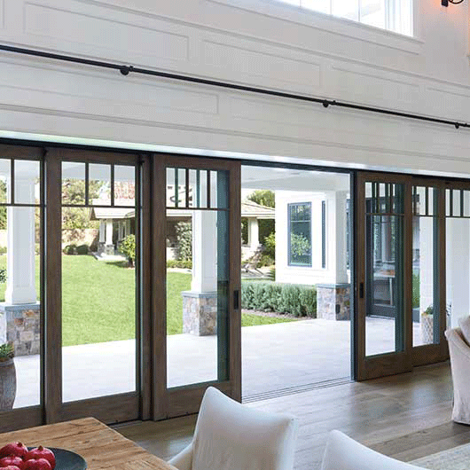 Architect Series Multi Slide Patio Door Pella Patio Doors Deck