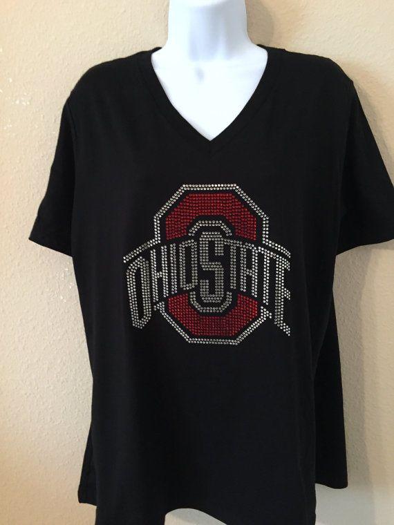 be5e9719 Ohio State Rhinestone T-Shirt | A Lot of Bling | Rhinestone shirts ...