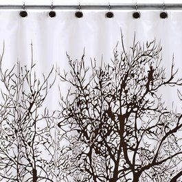 Tree Shower Curtain And Hook Set