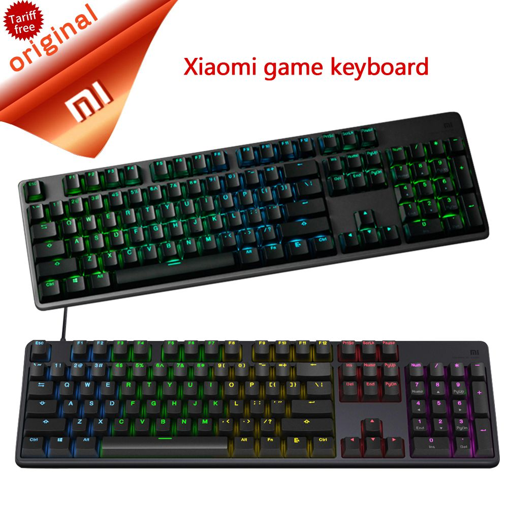 Original Xiaomi Gaming Keyboard Standard 104 Keys Professional Rgb Colorful Backlight Keyboard Usb Wired For Pc Laptop Gaming Review Pc Laptop Keyboard Xiaomi