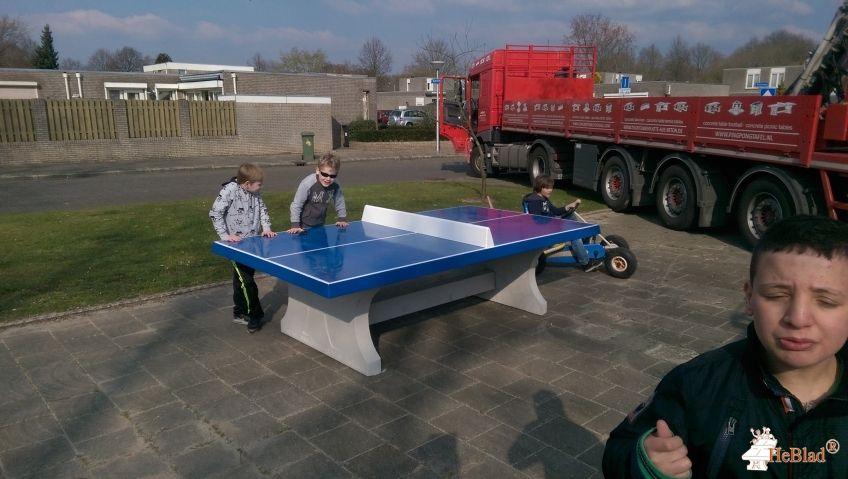 Pingpongtafel Blauw bij Speeltuin aan de Maisweg in Eindhoven